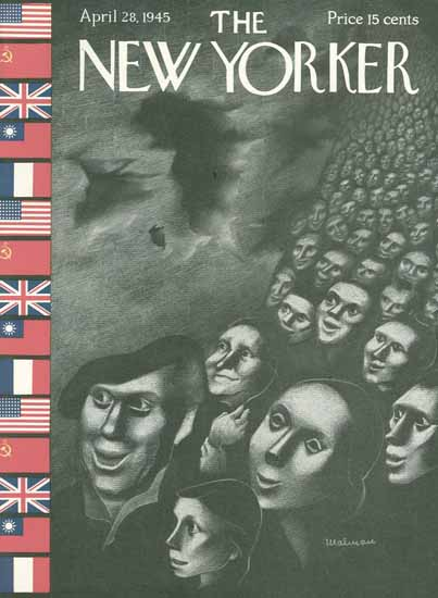 WomenArt Christina Malman Cover The New Yorker 1945_04_28 Copyright | 69 Women Cover Artists and 826 Covers 1902-1970
