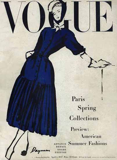WomenArt Dagmar Vogue Cover 1947-04-01 Copyright | 69 Women Cover Artists and 826 Covers 1902-1970