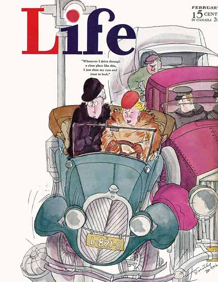 WomenArt Dorothy McKay Cover Life Magazine 1934-02 Copyright | 69 Women Cover Artists and 826 Covers 1902-1970