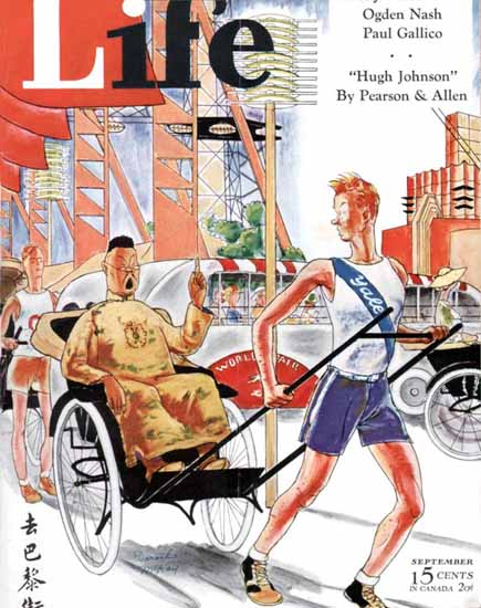WomenArt Dorothy McKay Cover Life Magazine 1934-09 Copyright   69 Women Cover Artists and 826 Covers 1902-1970