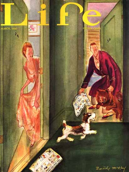 WomenArt Dorothy McKay Cover Life Magazine 1936-03 Copyright | 69 Women Cover Artists and 826 Covers 1902-1970