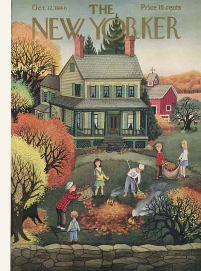 WomenArt Edna Eicke Cover The New Yorker 1946_10_12 Copyright | 69 Women Cover Artists and 826 Covers 1902-1970