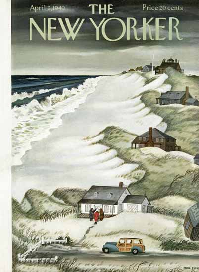 WomenArt Edna Eicke Cover The New Yorker 1949_04_02 Copyright | 69 Women Cover Artists and 826 Covers 1902-1970