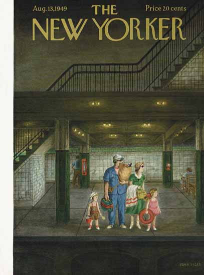 WomenArt Edna Eicke Cover The New Yorker 1949_08_13 Copyright   69 Women Cover Artists and 826 Covers 1902-1970