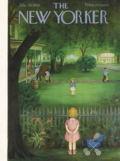 WomenArt Edna Eicke Cover The New Yorker 1950_07_29 Copyright | 69 Women Cover Artists and 826 Covers 1902-1970
