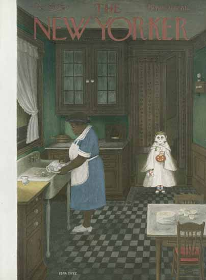 WomenArt Edna Eicke Cover The New Yorker 1950_10_28 Copyright | 69 Women Cover Artists and 826 Covers 1902-1970