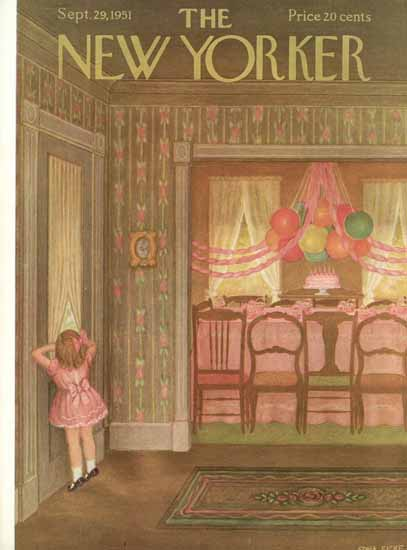 WomenArt Edna Eicke Cover The New Yorker 1951_09_29 Copyright | 69 Women Cover Artists and 826 Covers 1902-1970