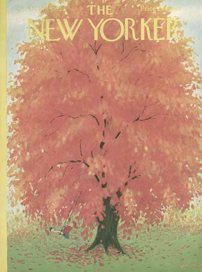 WomenArt Edna Eicke Cover The New Yorker 1952_10_18 Copyright | 69 Women Cover Artists and 826 Covers 1902-1970