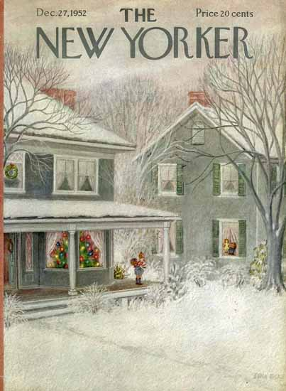 WomenArt Edna Eicke Cover The New Yorker 1952_12_27 Copyright | 69 Women Cover Artists and 826 Covers 1902-1970