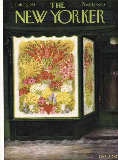 WomenArt Edna Eicke Cover The New Yorker 1953_02_14 Copyright | 69 Women Cover Artists and 826 Covers 1902-1970