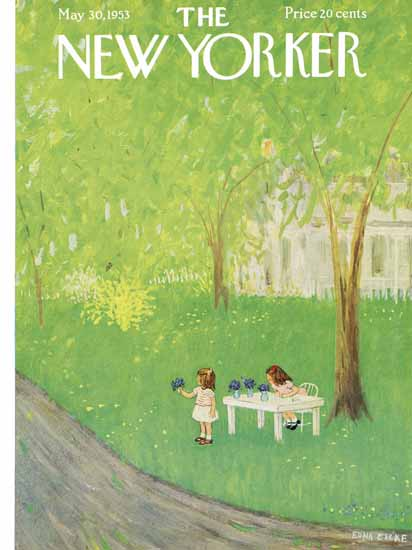 WomenArt Edna Eicke Cover The New Yorker 1953_05_30 Copyright | 69 Women Cover Artists and 826 Covers 1902-1970