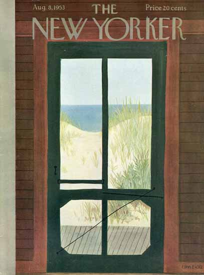 WomenArt Edna Eicke Cover The New Yorker 1953_08_08 Copyright | 69 Women Cover Artists and 826 Covers 1902-1970