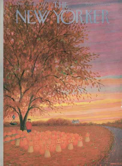WomenArt Edna Eicke Cover The New Yorker 1953_10_31 Copyright | 69 Women Cover Artists and 826 Covers 1902-1970