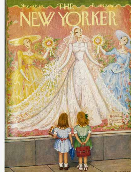 WomenArt Edna Eicke Cover The New Yorker 1954_05_29 Copyright | 69 Women Cover Artists and 826 Covers 1902-1970