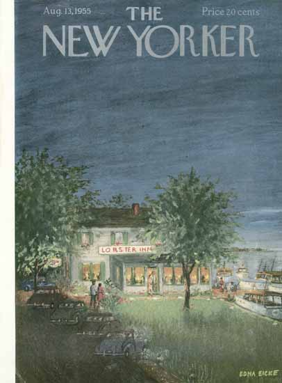 WomenArt Edna Eicke Cover The New Yorker 1955_08_13 Copyright | 69 Women Cover Artists and 826 Covers 1902-1970