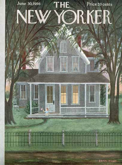 WomenArt Edna Eicke Cover The New Yorker 1956_06_30 Copyright | 69 Women Cover Artists and 826 Covers 1902-1970