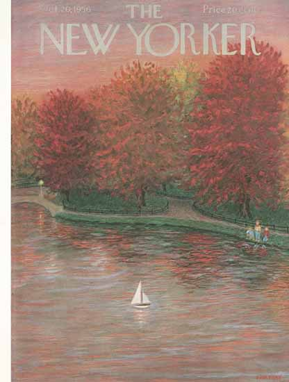 WomenArt Edna Eicke Cover The New Yorker 1956_10_20 Copyright | 69 Women Cover Artists and 826 Covers 1902-1970