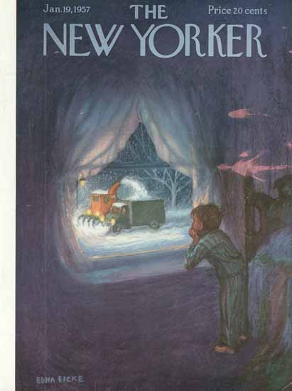 WomenArt Edna Eicke Cover The New Yorker 1957_01_19 Copyright | 69 Women Cover Artists and 826 Covers 1902-1970