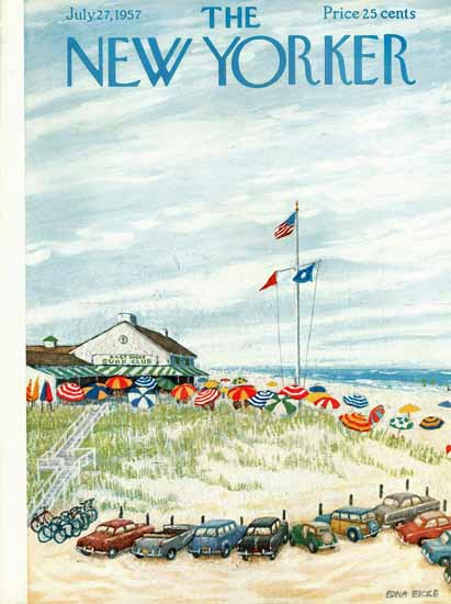 WomenArt Edna Eicke Cover The New Yorker 1957_07_27 Copyright | 69 Women Cover Artists and 826 Covers 1902-1970