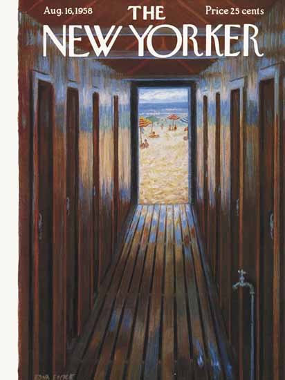 WomenArt Edna Eicke Cover The New Yorker 1958_08_16 Copyright | 69 Women Cover Artists and 826 Covers 1902-1970