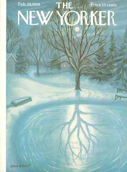 WomenArt Edna Eicke Cover The New Yorker 1959_02_28 Copyright | 69 Women Cover Artists and 826 Covers 1902-1970