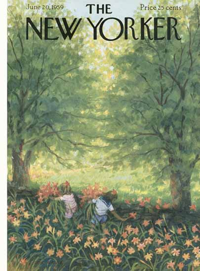 WomenArt Edna Eicke Cover The New Yorker 1959_06_20 Copyright | 69 Women Cover Artists and 826 Covers 1902-1970
