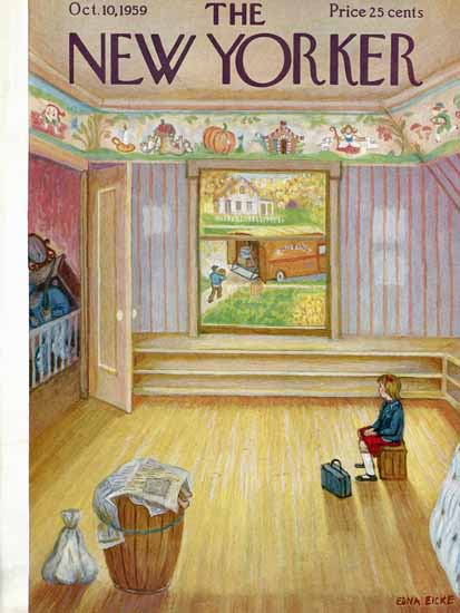 WomenArt Edna Eicke Cover The New Yorker 1959_10_10 Copyright | 69 Women Cover Artists and 826 Covers 1902-1970