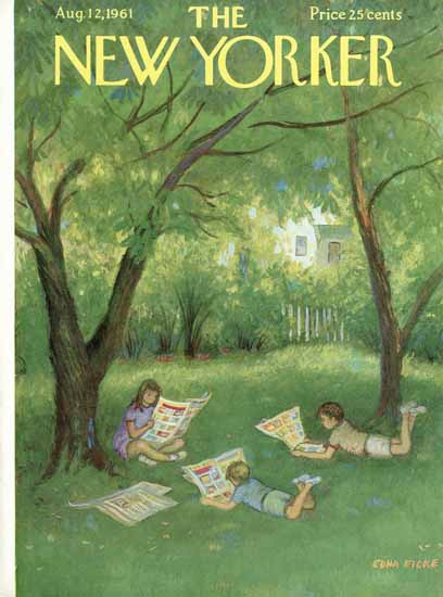 WomenArt Edna Eicke Cover The New Yorker 1961_08_12 Copyright | 69 Women Cover Artists and 826 Covers 1902-1970
