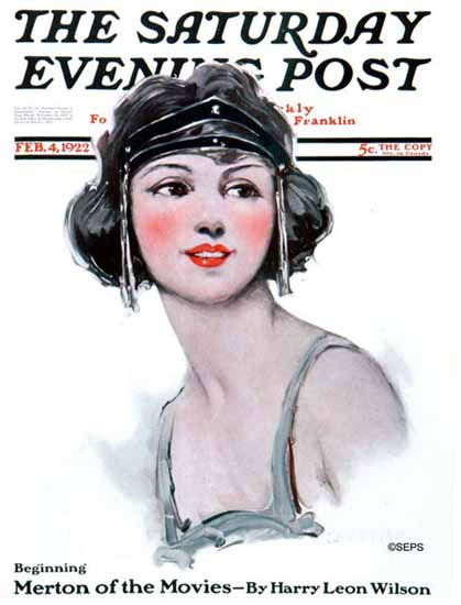WomenArt Ellen Pyle Cover Saturday Evening Post 1922_02_04 | 69 Women Cover Artists and 826 Covers 1902-1970