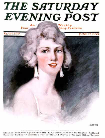 WomenArt Ellen Pyle Cover Saturday Evening Post 1922_06_17 | 69 Women Cover Artists and 826 Covers 1902-1970