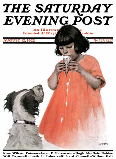 WomenArt Ellen Pyle Cover Saturday Evening Post 1922_08_12 | 69 Women Cover Artists and 826 Covers 1902-1970