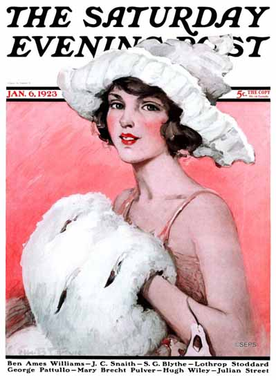 WomenArt Ellen Pyle Cover Saturday Evening Post 1923_01_06 | 69 Women Cover Artists and 826 Covers 1902-1970