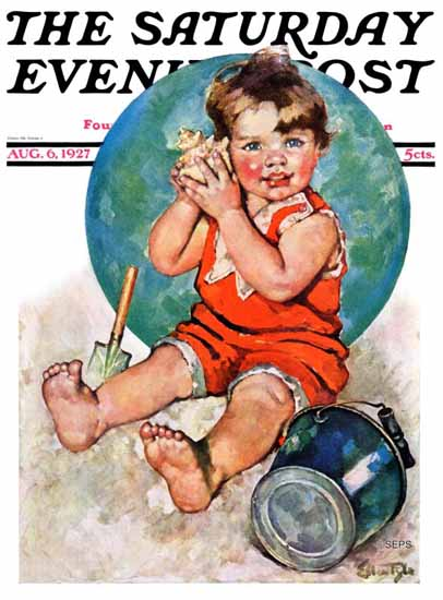 WomenArt Ellen Pyle Cover Saturday Evening Post 1927_08_06 | 69 Women Cover Artists and 826 Covers 1902-1970