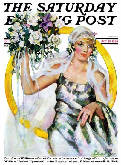 WomenArt Ellen Pyle Cover Saturday Evening Post 1928_10_13 | 69 Women Cover Artists and 826 Covers 1902-1970