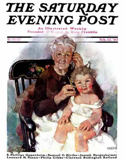 WomenArt Ellen Pyle Cover Saturday Evening Post 1930_02_22 | 69 Women Cover Artists and 826 Covers 1902-1970