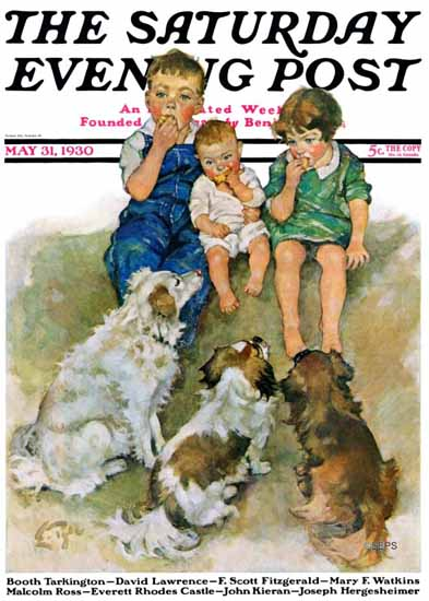 WomenArt Ellen Pyle Cover Saturday Evening Post 1930_05_31 | 69 Women Cover Artists and 826 Covers 1902-1970
