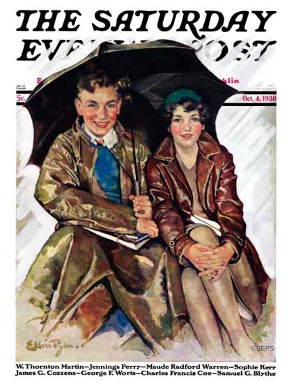 WomenArt Ellen Pyle Cover Saturday Evening Post 1930_10_04 | 69 Women Cover Artists and 826 Covers 1902-1970