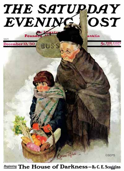 WomenArt Ellen Pyle Cover Saturday Evening Post 1930_12_13 | 69 Women Cover Artists and 826 Covers 1902-1970