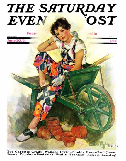 WomenArt Ellen Pyle Cover Saturday Evening Post 1931_06_20 | 69 Women Cover Artists and 826 Covers 1902-1970