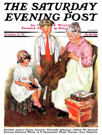 WomenArt Ellen Pyle Cover Saturday Evening Post 1931_10_17 | 69 Women Cover Artists and 826 Covers 1902-1970