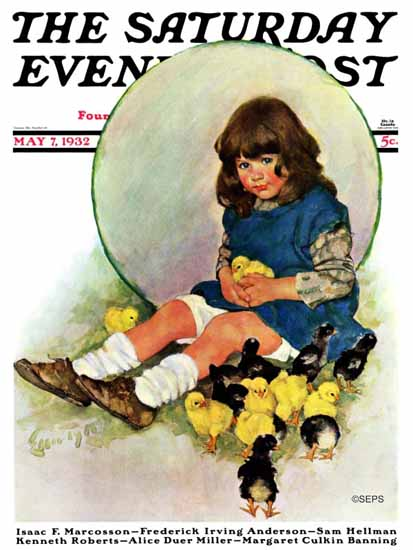 WomenArt Ellen Pyle Cover Saturday Evening Post 1932_05_07 | 69 Women Cover Artists and 826 Covers 1902-1970