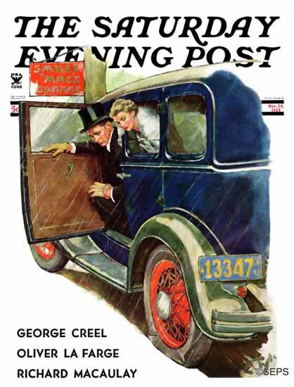 WomenArt Ellen Pyle Saturday Evening Post Flat Evening 1934_11_24 | 69 Women Cover Artists and 826 Covers 1902-1970