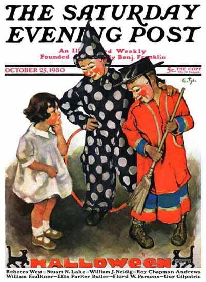 WomenArt Ellen Pyle Saturday Evening Post Halloween 1930_10_25   69 Women Cover Artists and 826 Covers 1902-1970