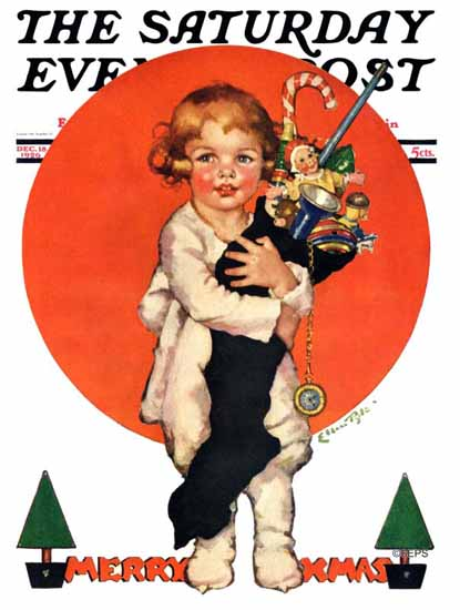 WomenArt Ellen Pyle Saturday Evening Post Merry XMas 1926_12_18 | 69 Women Cover Artists and 826 Covers 1902-1970