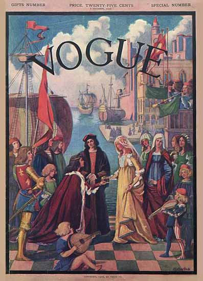 WomenArt Esther Peck Vogue Cover 1906-12-06 Copyright | 69 Women Cover Artists and 826 Covers 1902-1970