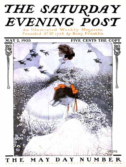 WomenArt Ethel Franklin Betts Cover Saturday Evening Post 1903_05_02   69 Women Cover Artists and 826 Covers 1902-1970