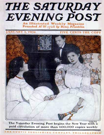 WomenArt Ethel Franklin Betts Cover Saturday Evening Post 1904_01_02 | 69 Women Cover Artists and 826 Covers 1902-1970