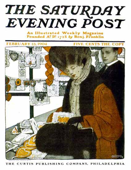 WomenArt Ethel Franklin Betts Cover Saturday Evening Post 1904_02_13 | 69 Women Cover Artists and 826 Covers 1902-1970