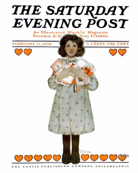 WomenArt Ethel Franklin Betts Cover Saturday Evening Post 1908_02_15 | 69 Women Cover Artists and 826 Covers 1902-1970
