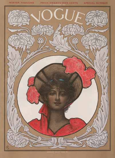 WomenArt Ethel Wright Vogue Cover 1902-11-06 Copyright | 69 Women Cover Artists and 826 Covers 1902-1970